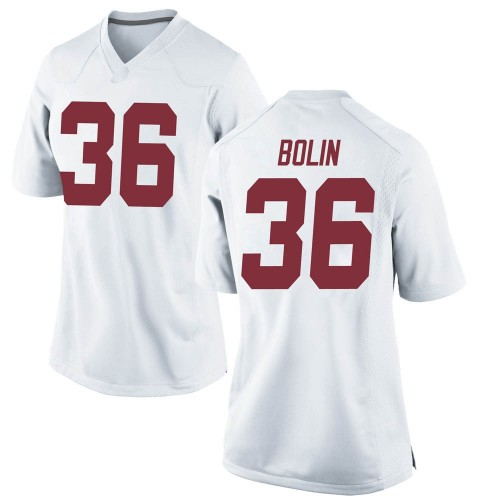 Women's Nike Bret Bolin Alabama Crimson Tide Replica White Football College Jersey