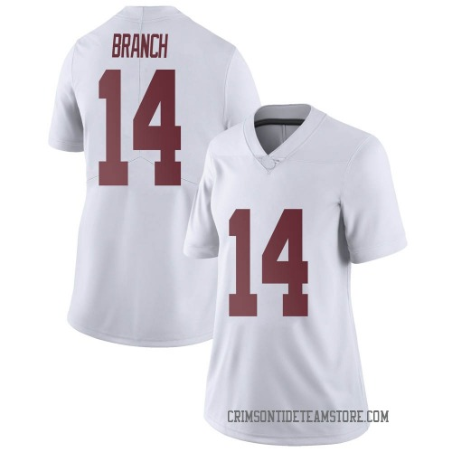 Women's Nike Brian Branch Alabama Crimson Tide Limited White Football College Jersey