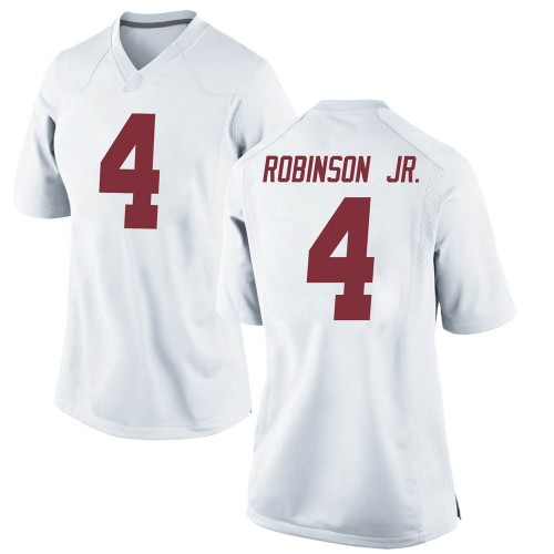 Women's Nike Brian Robinson Jr. Alabama Crimson Tide Game White Football College Jersey
