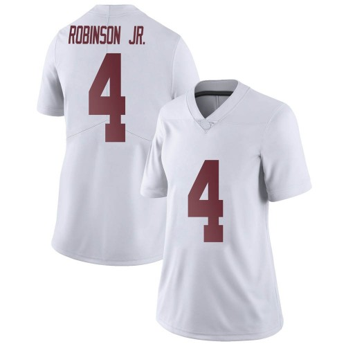 Women's Nike Brian Robinson Jr. Alabama Crimson Tide Limited White Football College Jersey