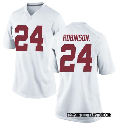 Women's Nike Brian Robinson Jr. Alabama Crimson Tide Replica White Football College Jersey