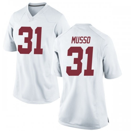 Women's Nike Bryce Musso Alabama Crimson Tide Game White Football College Jersey