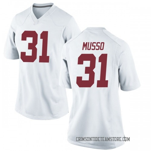 Women's Nike Bryce Musso Alabama Crimson Tide Replica White Football College Jersey