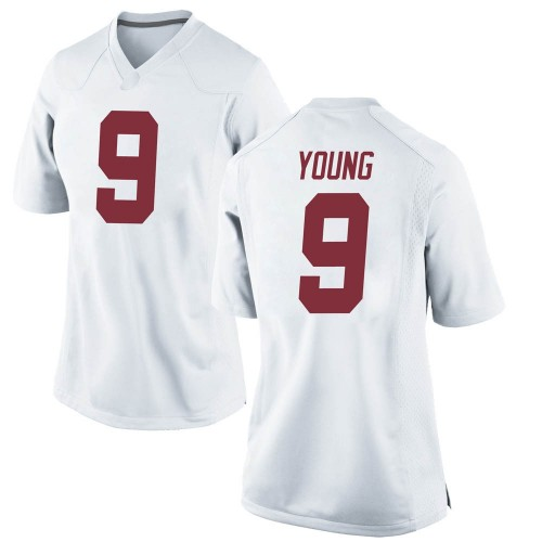 Women's Nike Bryce Young Alabama Crimson Tide Game White Football College Jersey