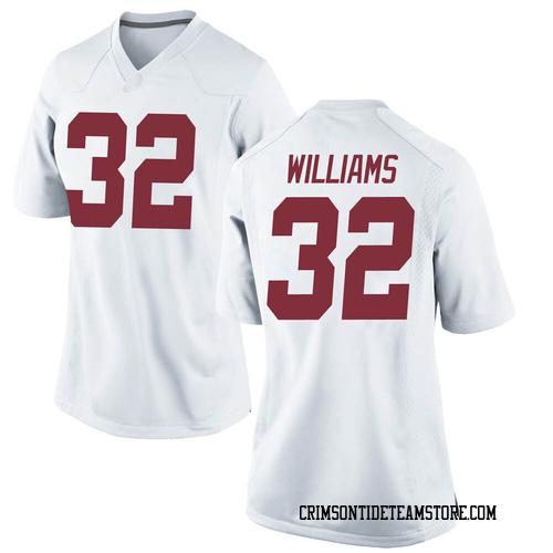 Women's Nike C.J. Williams Alabama Crimson Tide Game White Football College Jersey