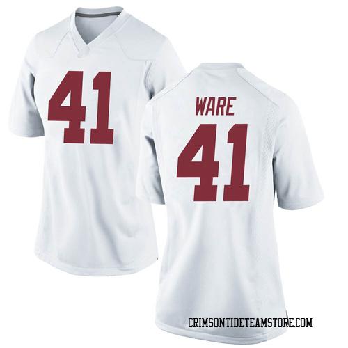 Women's Nike Carson Ware Alabama Crimson Tide Game White Football College Jersey