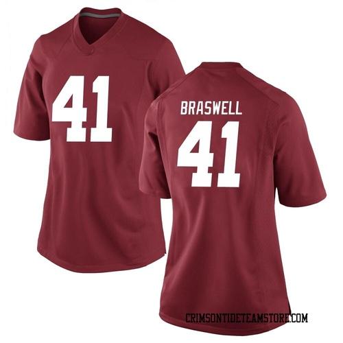 Women's Nike Chris Braswell Alabama Crimson Tide Game Crimson Football College Jersey