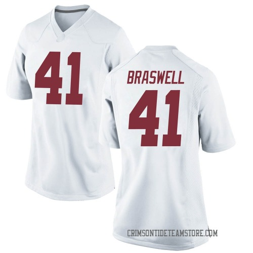 Women's Nike Chris Braswell Alabama Crimson Tide Game White Football College Jersey