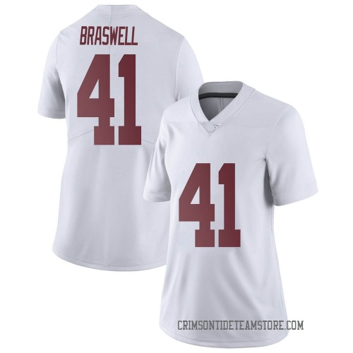 Women's Nike Chris Braswell Alabama Crimson Tide Limited White Football College Jersey