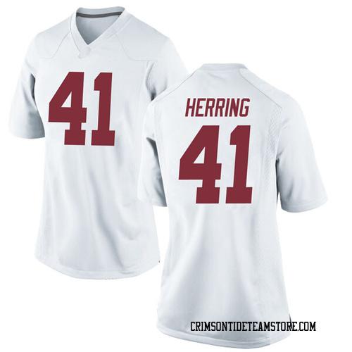 Women's Nike Chris Herring Alabama Crimson Tide Replica White Football College Jersey