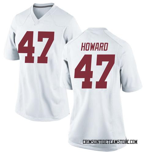 Women's Nike Chris Howard Alabama Crimson Tide Game White Football College Jersey