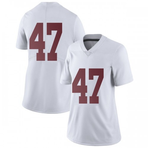 Women's Nike Chris Howard Alabama Crimson Tide Limited White Football College Jersey