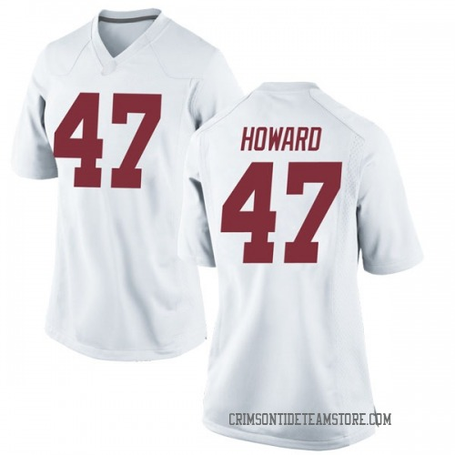 Women's Nike Chris Howard Alabama Crimson Tide Replica White Football College Jersey