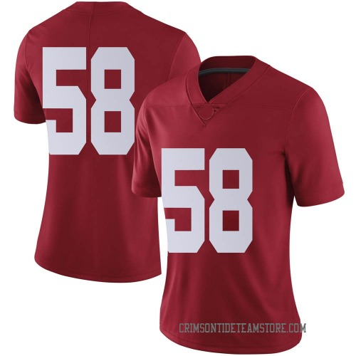 Women's Nike Christian Barmore Alabama Crimson Tide Limited Crimson Football College Jersey