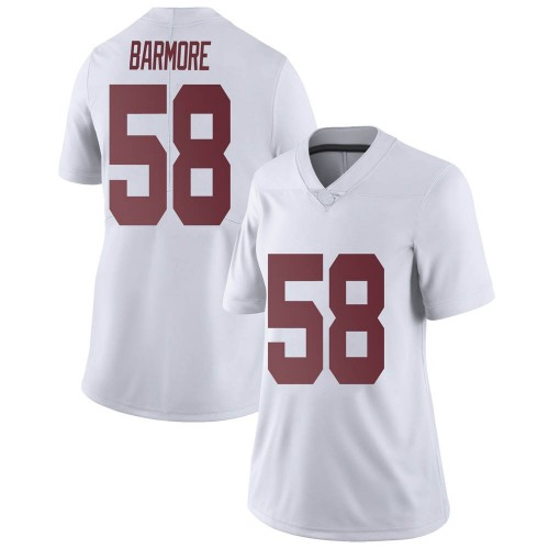Women's Nike Christian Barmore Alabama Crimson Tide Limited White Football College Jersey