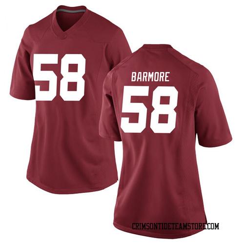 Women's Nike Christian Barmore Alabama Crimson Tide Replica Crimson Football College Jersey