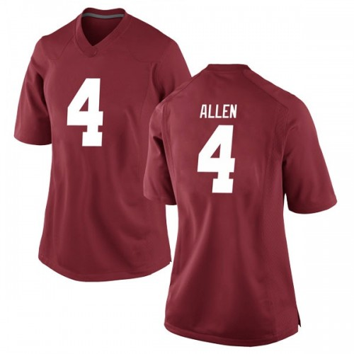 Women's Nike Christopher Allen Alabama Crimson Tide Game Crimson Football College Jersey