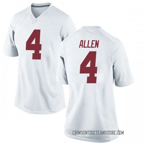 Women's Nike Christopher Allen Alabama Crimson Tide Game White Football College Jersey