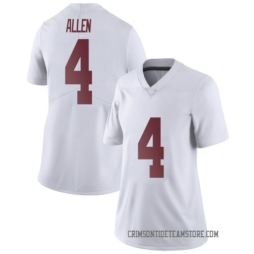 Women's Nike Christopher Allen Alabama Crimson Tide Limited White Football College Jersey