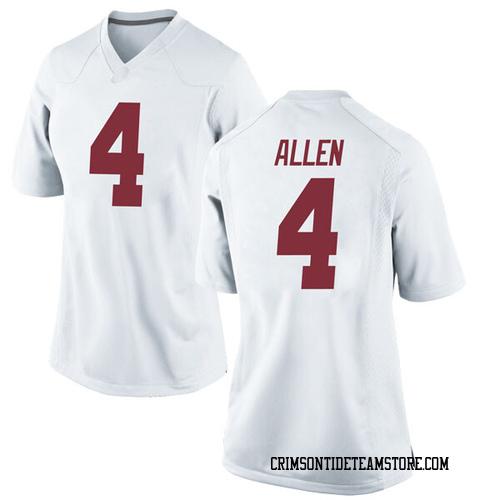 Women's Nike Christopher Allen Alabama Crimson Tide Replica White Football College Jersey