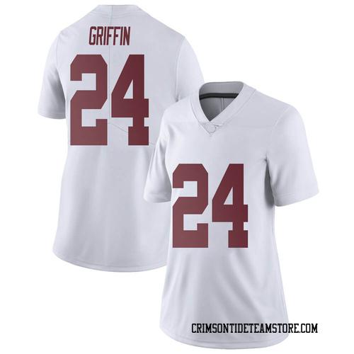 Women's Nike Clark Griffin Alabama Crimson Tide Limited White Football College Jersey