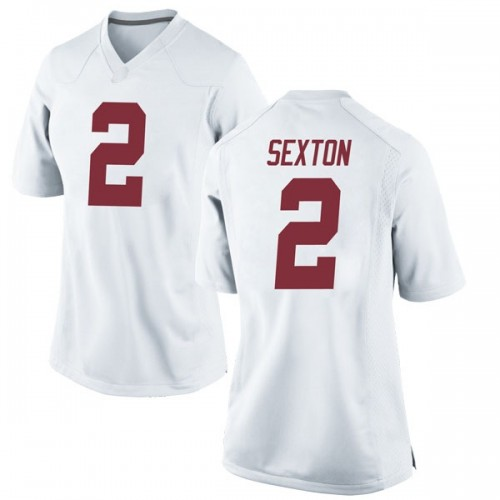 the latest 6b5cc 0b101 Women's Nike Collin Sexton Alabama Crimson Tide Game White Football College  Jersey