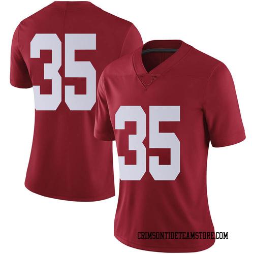 Women's Nike Cooper Bishop Alabama Crimson Tide Limited Crimson Football College Jersey