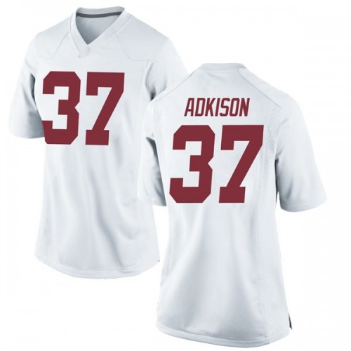 Women's Nike Dalton Adkison Alabama Crimson Tide Game White Football College Jersey