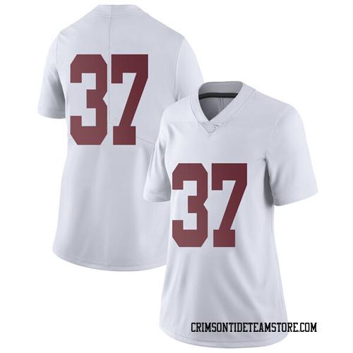 Women's Nike Dalton Adkison Alabama Crimson Tide Limited White Football College Jersey