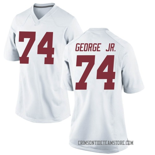 Women's Nike Damieon George Jr. Alabama Crimson Tide Game White Football College Jersey
