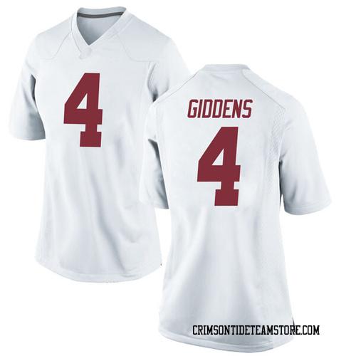 Women's Nike Daniel Giddens Alabama Crimson Tide Game White Football College Jersey
