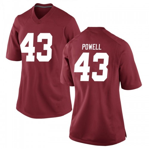 Women's Nike Daniel Powell Alabama Crimson Tide Game Crimson Football College Jersey