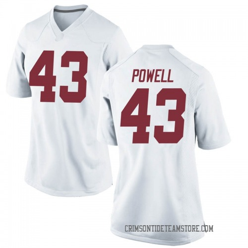 Women's Nike Daniel Powell Alabama Crimson Tide Replica White Football College Jersey