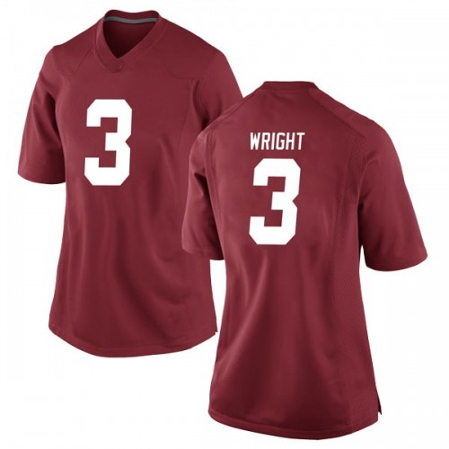 Women's Nike Daniel Wright Alabama Crimson Tide Game Crimson Football College Jersey