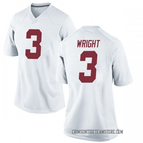 Women's Nike Daniel Wright Alabama Crimson Tide Game White Football College Jersey