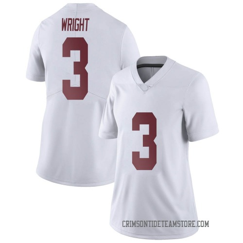 Women's Nike Daniel Wright Alabama Crimson Tide Limited White Football College Jersey