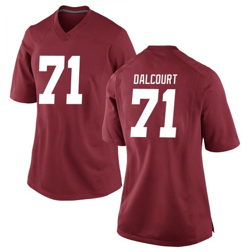 Women's Nike Darrian Dalcourt Alabama Crimson Tide Game Crimson Football College Jersey