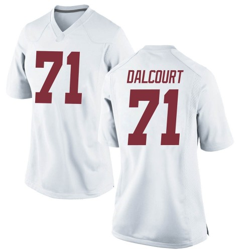 Women's Nike Darrian Dalcourt Alabama Crimson Tide Game White Football College Jersey