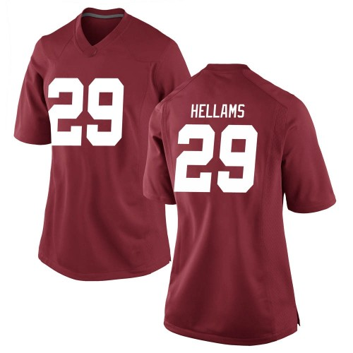 Women's Nike DeMarcco Hellams Alabama Crimson Tide Game Crimson Football College Jersey