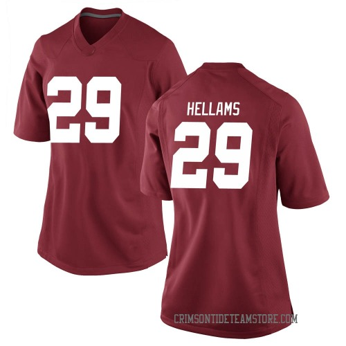 Women's Nike DeMarcco Hellams Alabama Crimson Tide Replica Crimson Football College Jersey