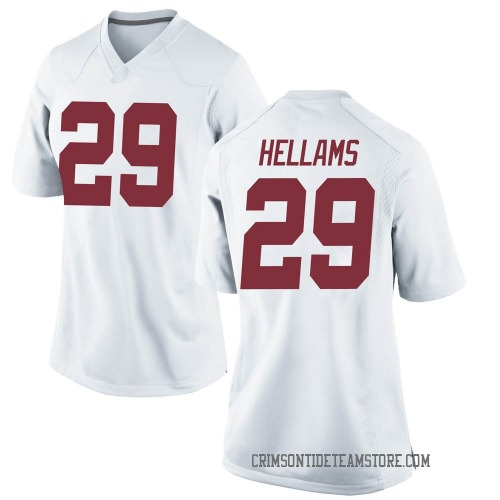 Women's Nike DeMarcco Hellams Alabama Crimson Tide Replica White Football College Jersey