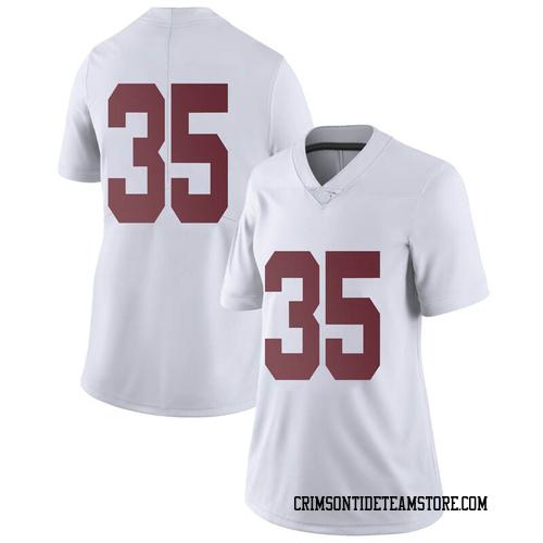 Women's Nike De'Marquise Lockridge Alabama Crimson Tide Limited White Football College Jersey