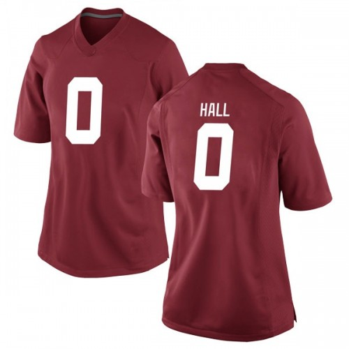 Women's Nike Donta Hall Alabama Crimson Tide Replica Crimson Football College Jersey