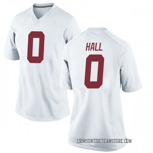 Women's Nike Donta Hall Alabama Crimson Tide Replica White Football College Jersey