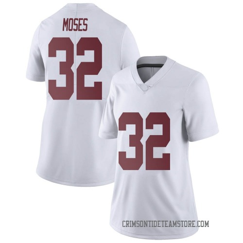 Women's Nike Dylan Moses Alabama Crimson Tide Limited White Football College Jersey