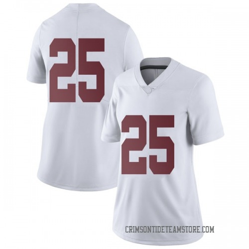 Women's Nike Eddie Smith Alabama Crimson Tide Limited White Football College Jersey