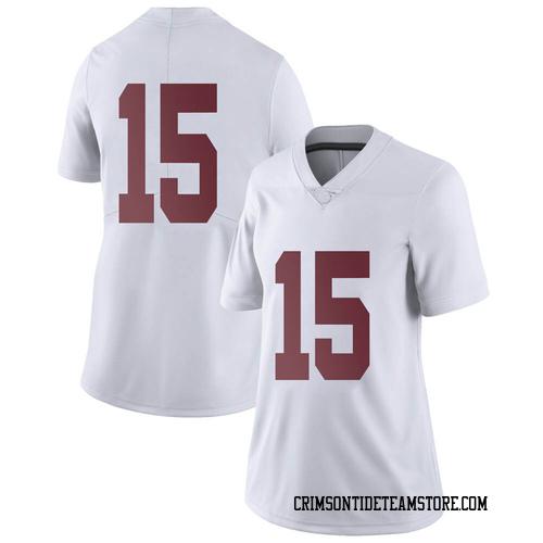 Women's Nike Eddie Smith Alabama Crimson Tide Limited White Football College Jersey