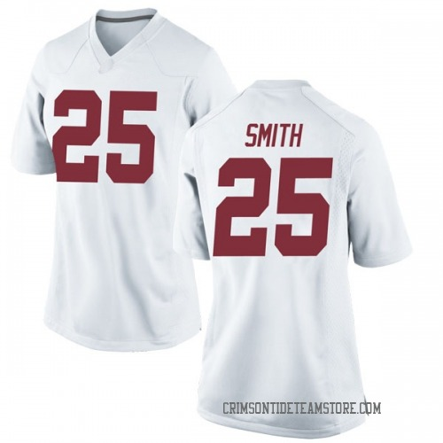 Women's Nike Eddie Smith Alabama Crimson Tide Replica White Football College Jersey