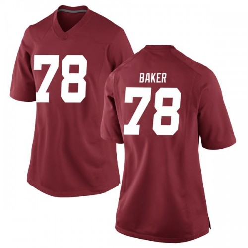 Women's Nike Elliot Baker Alabama Crimson Tide Game Crimson Football College Jersey