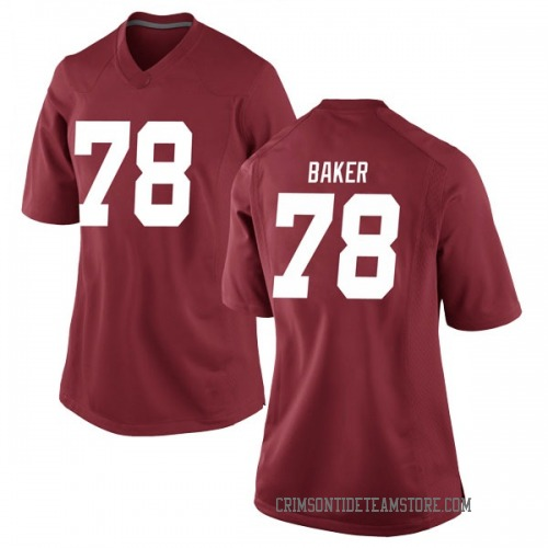 Women's Nike Elliot Baker Alabama Crimson Tide Replica Crimson Football College Jersey
